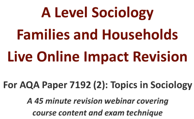 sociology past papers on family Sociology questions what are the sociological definitions of marriage and the family marriage is a long term socially approved sexual union between two people.