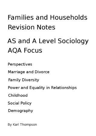 sociology marriage and family essay 12/2/2010 sociology final paper marriage and family the simplest and most basic foundation of a sociological civilization or group begins at the core.