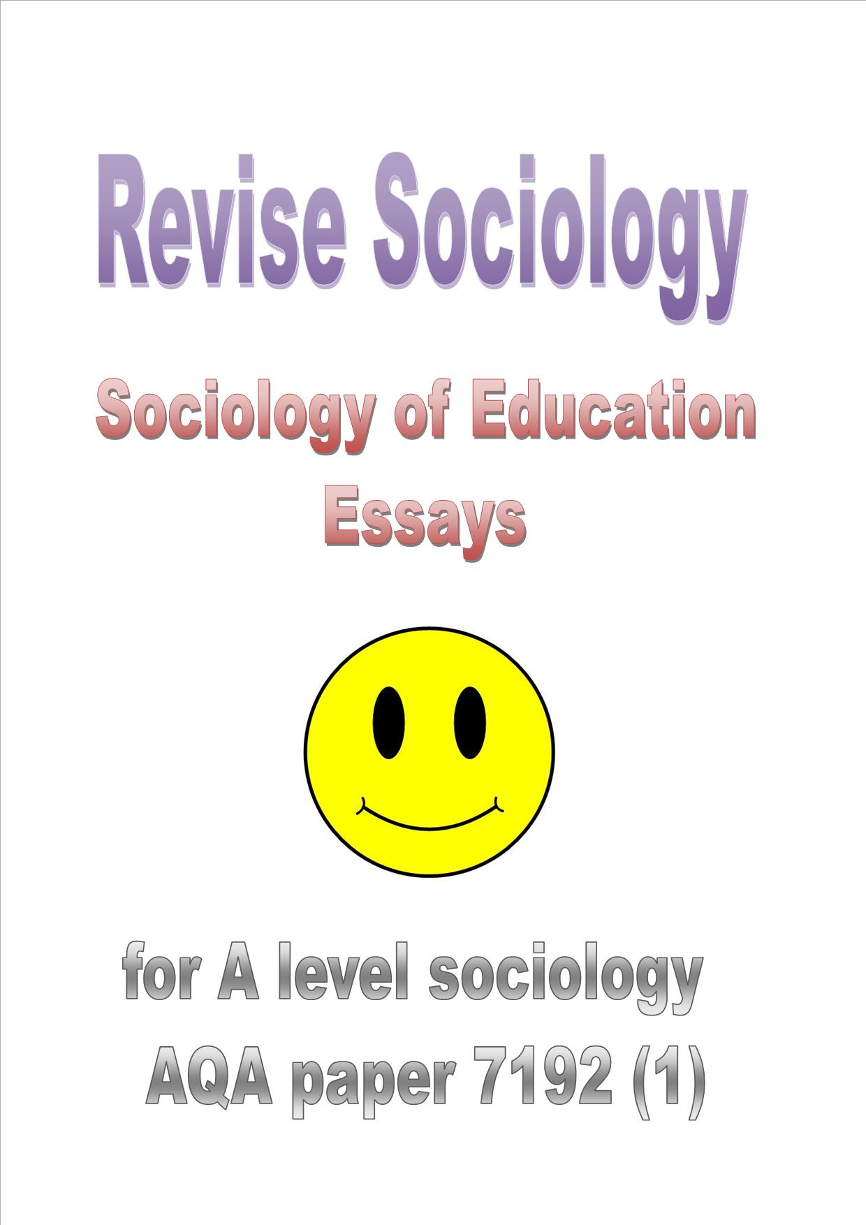 Sociology and me paper