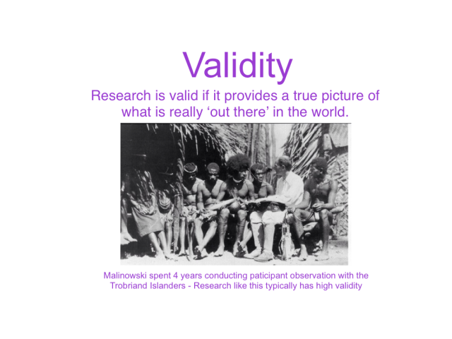 research methods validity Summary of various research methods used in psychology including experiments, observation, interviews, case study method.