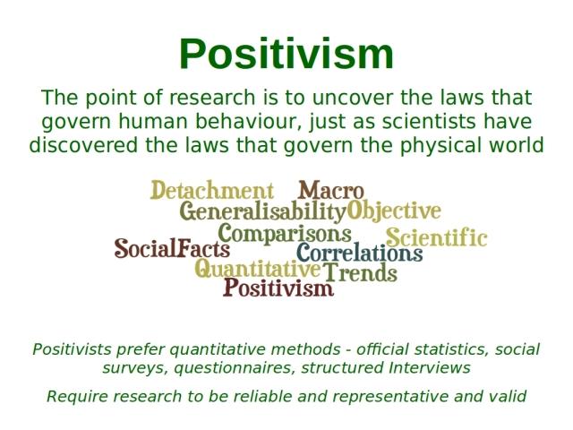 Positivism sociology