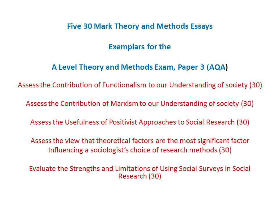Research Methods Db 2 - Sample Essays