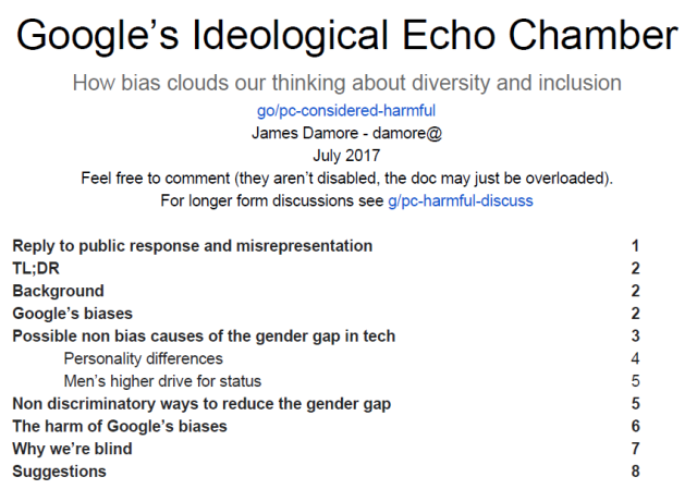 Google's Ideological Echo Chamber