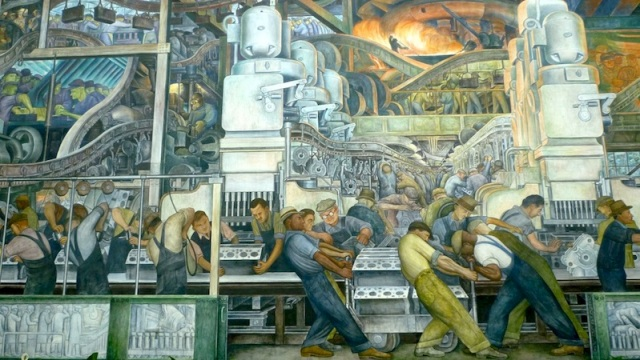 The rise and fall of detroit revisesociology for Diego rivera detroit industry mural