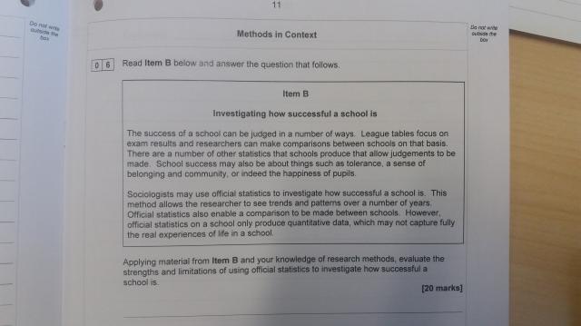 AQA Education Methods in Context 2018